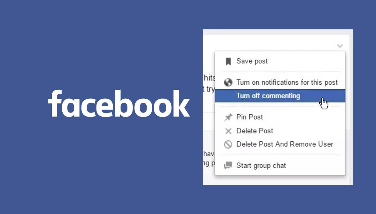 How to Turn Off the Comments on Facebook Post