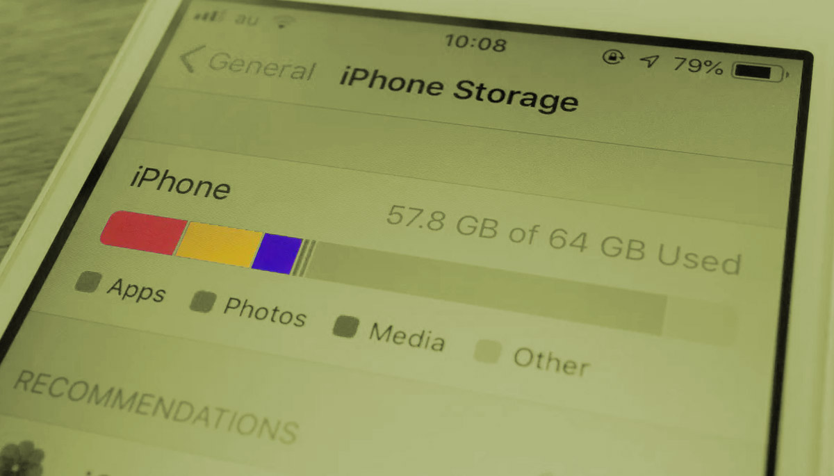 iPhone other storage